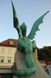 Green dragon at Zmajski most